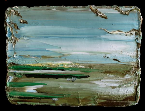 'Countryside' , oil on canvas, 18 x 24 cm/ olie op doek, 18 x 24 cm