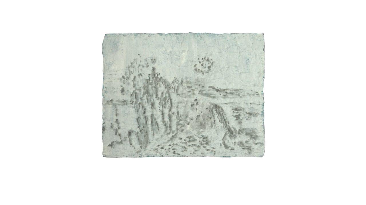 paesaggio, oil on linen, 2018, 36 x 47 cm