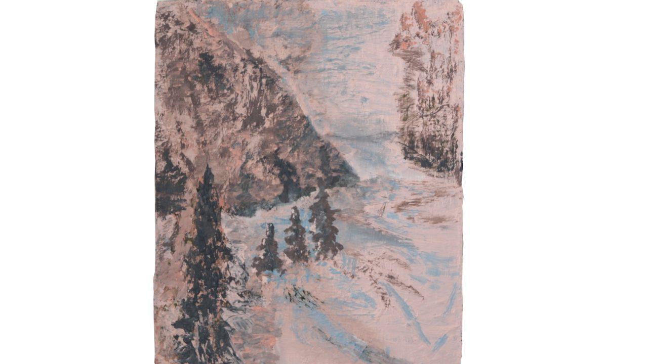 pini, oil on linen, 2018, 61 x 50,5 cm
