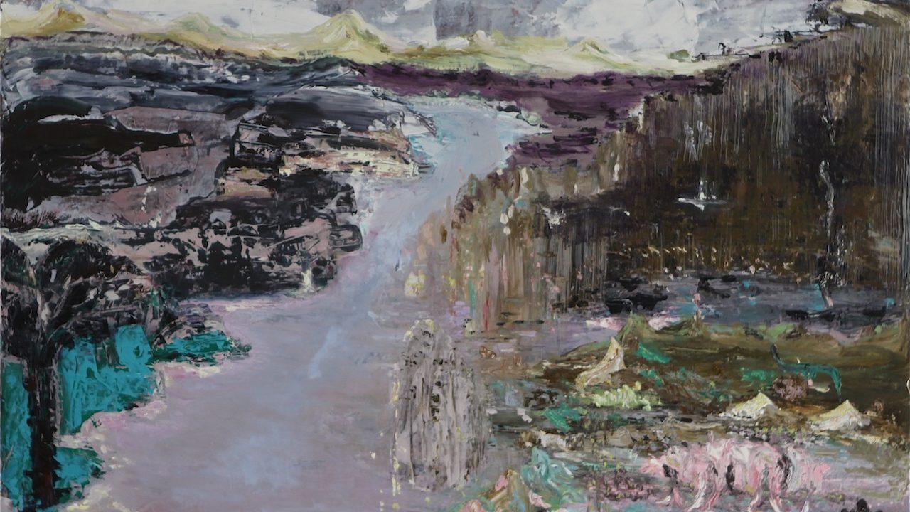2013, 'Waar wij heengaan' ,olie op linnen, 100 x 140 cm