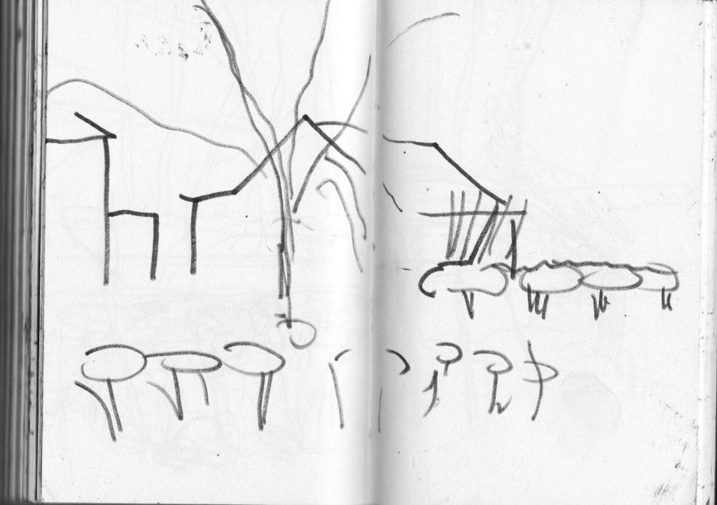 Untitled, pen on paper, 18,5 cm x 13,5 cm