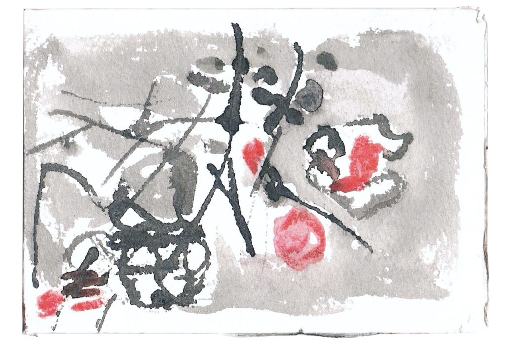 2014, pentekening op papier, no. 2, 10 x 15 cm